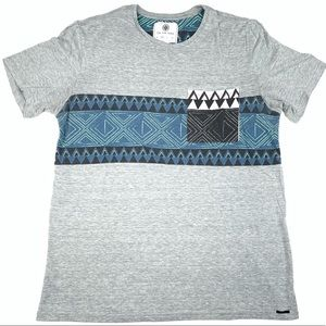 On the byas Aztec Graphic Pocket T-shirt